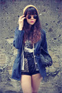 Leather-boots-navy-blue-ianywear-jacket-denim-studded-shorts