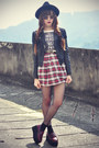 Oasap-hat-leather-motelrocks-jacket-inlovewithfashion-skirt