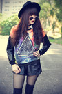 Leather-shorts-oasap-hat-round-sunglasses-leather-choies-top