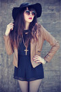 Black-hat-leather-ianywear-jacket-lace-socks-round-sunglasses
