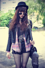 Forever-21-hat-faux-leather-motel-rocks-jacket-shirt-choies-bag