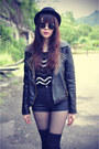 Leather-boots-forever-21-hat-leather-studded-jacket-ianywear-sweater