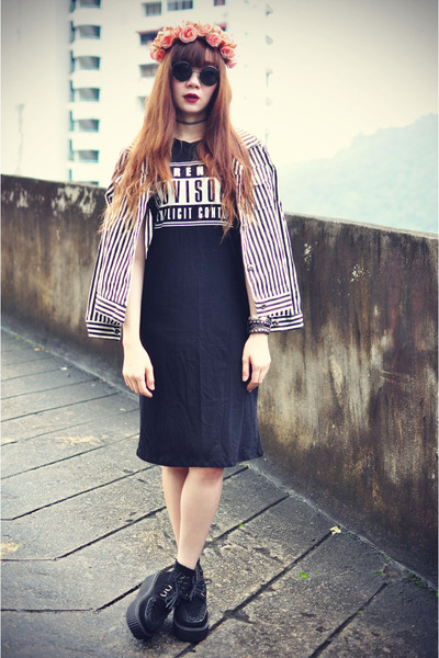 PoppyLovers dress - Sheinside jacket