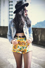 OASAP hat - OASAP shorts - Choies sunglasses - Choies top