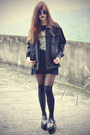 Studded-creeper-shoes-oasap-hat-denim-jacket-overknee-socks