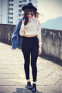 Oasap-hat-blaqmagik-jacket-round-sunglasses-choies-top-topshop-pants
