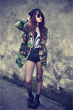 camo jacket - Topshop shorts