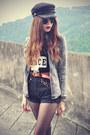 Peace-t-shirt-choies-shirt-round-sunglasses-cap-choies-hair-accessory