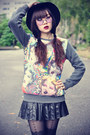 Hat-topshop-tights-round-sunglasses-sweatshirt-pu-skirt-choies-wedges