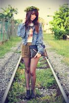 denim jacket jacket - shorts - Jeffrey Campbell wedges