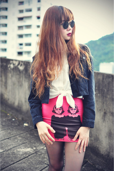 skirt - Dr Martens shoes - theeditorsmarket jacket - drmers shirt
