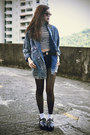 Younghungryfree-coat-topshop-shorts-choies-sunglasses-miniminou-necklace