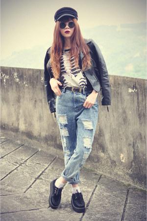 choiescom jeans - choiescom top - cap choiescom accessories