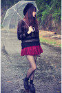Creepers-shoes-ianywear-sweater-round-sunglasses-ianywear-skirt