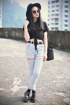 Dr Martens shoes - Choies jeans - Michael Kors bag - younghungryfree top