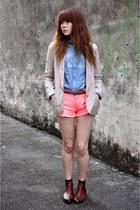 neon shorts - Topshop blazer