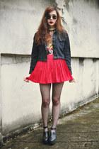 younghungryfree heels - theeditorsmarket jacket - sunglasses - BLAQMAGIK belt