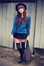 Boots-3d-rose-sweater-skirt