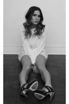 H&M shorts - Miu Miu heels