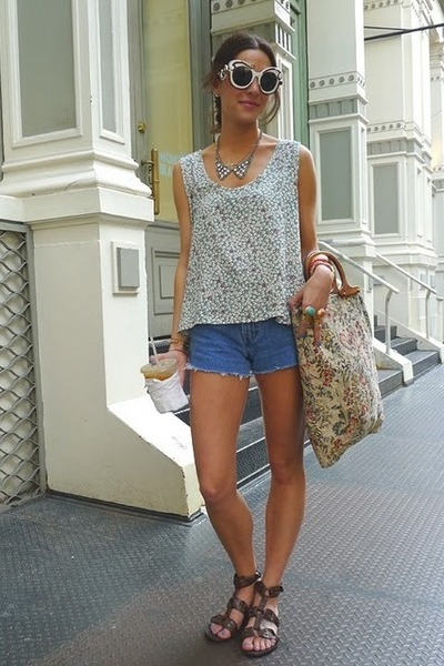 YSL ring - Prada sunglasses - f21 sandals