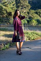 Jessica Simpson shoes - vintage dress - vintage bracelet - Sarah Hearey bag