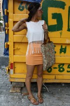 H&M shirt - H&M skirt - f21 ring - united nude sandals