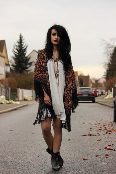 kimono Yoins cardigan - slip StyleMoi dress