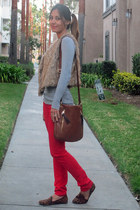 Christopher Kon bag - Ardene pants - Old Navy vest