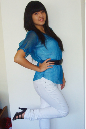 Urban Outfitters blouse - forever 21 jeans - from singapore shoes - forever 21 b