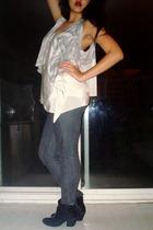 Metropark blouse - Forever 21 jeans - Forever 21 boots - Forever 21 jacket