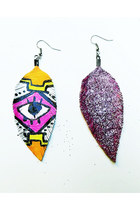 bubble gum Beatniq Designs earrings