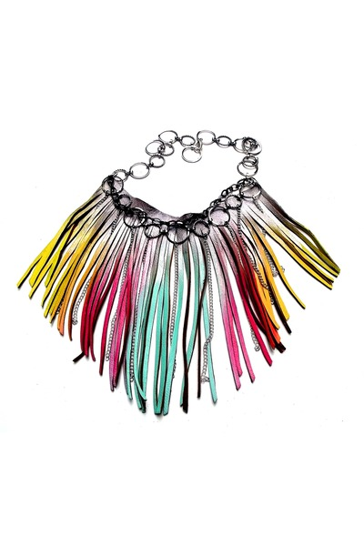 hot pink Beatniq Designs necklace