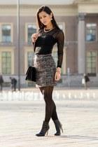 TOV essentials bag - Chanel bag - H&M top - Michael Kors watch - H&M heels