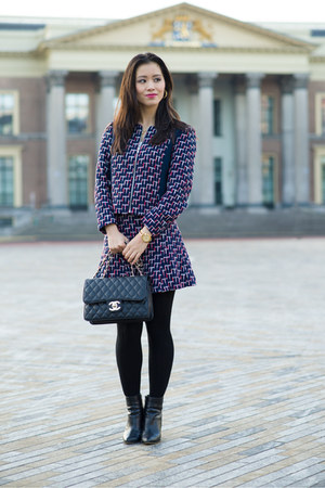 H&M jacket - Chanel bag - violet H&M skirt