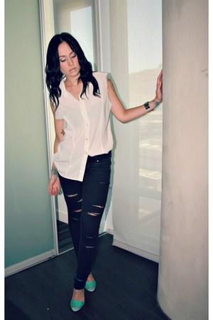 sandal heels Zara sandals - H&M jeans