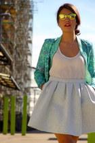 Zara bag - bomber Envii jacket - silver topping Zara heels