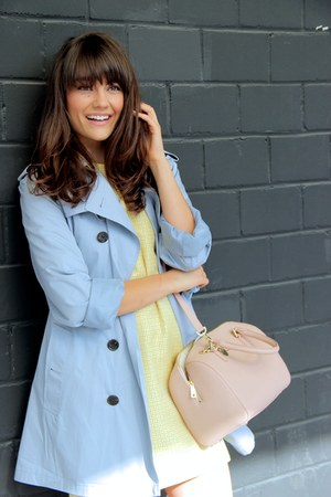 periwinkle trench coat Burberry coat - silver asos shoes