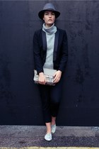 silver silver snake Cocorose London flats - black H&M blazer