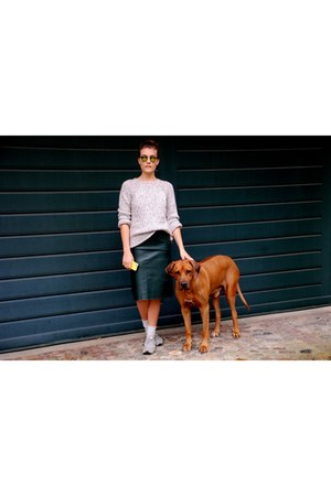 silver Repeat sweater - chartreuse asos sunglasses