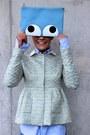 Turquoise-blue-rochas-blazer-light-blue-anya-hindmarch-bag