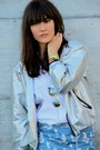 Silver-bomber-metallic-monki-jacket-white-menswear-ralph-lauren-shirt