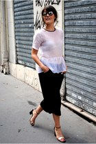 black sandals bronze What For shoes - black culottes asos pants