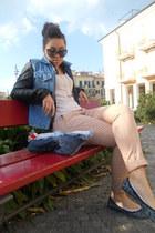 Bershka pants - vintage jacket - handmade bag - Pimkie t-shirt