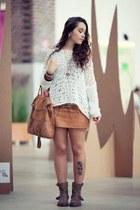 white handmade bodysuit - Relish skirt