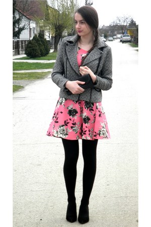 bubble gum H&M dress - heather gray Jessica Buurman jacket