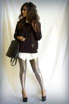 black Forever 21 sweatshirt - silver Forever 21 leggings