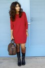 Black-etienne-aigner-boots-red-ny-co-dress