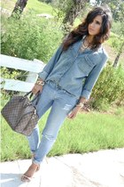 blue chambray H&M top