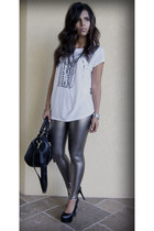 silver Forever 21 leggings
