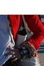 Red-alexander-mcqueen-jacket-gray-vintagetage-furt-hat-accessories-pink-bang